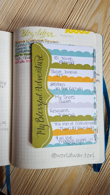 How to keep a list of blog ideas in your bullet journal without the being all over the place
